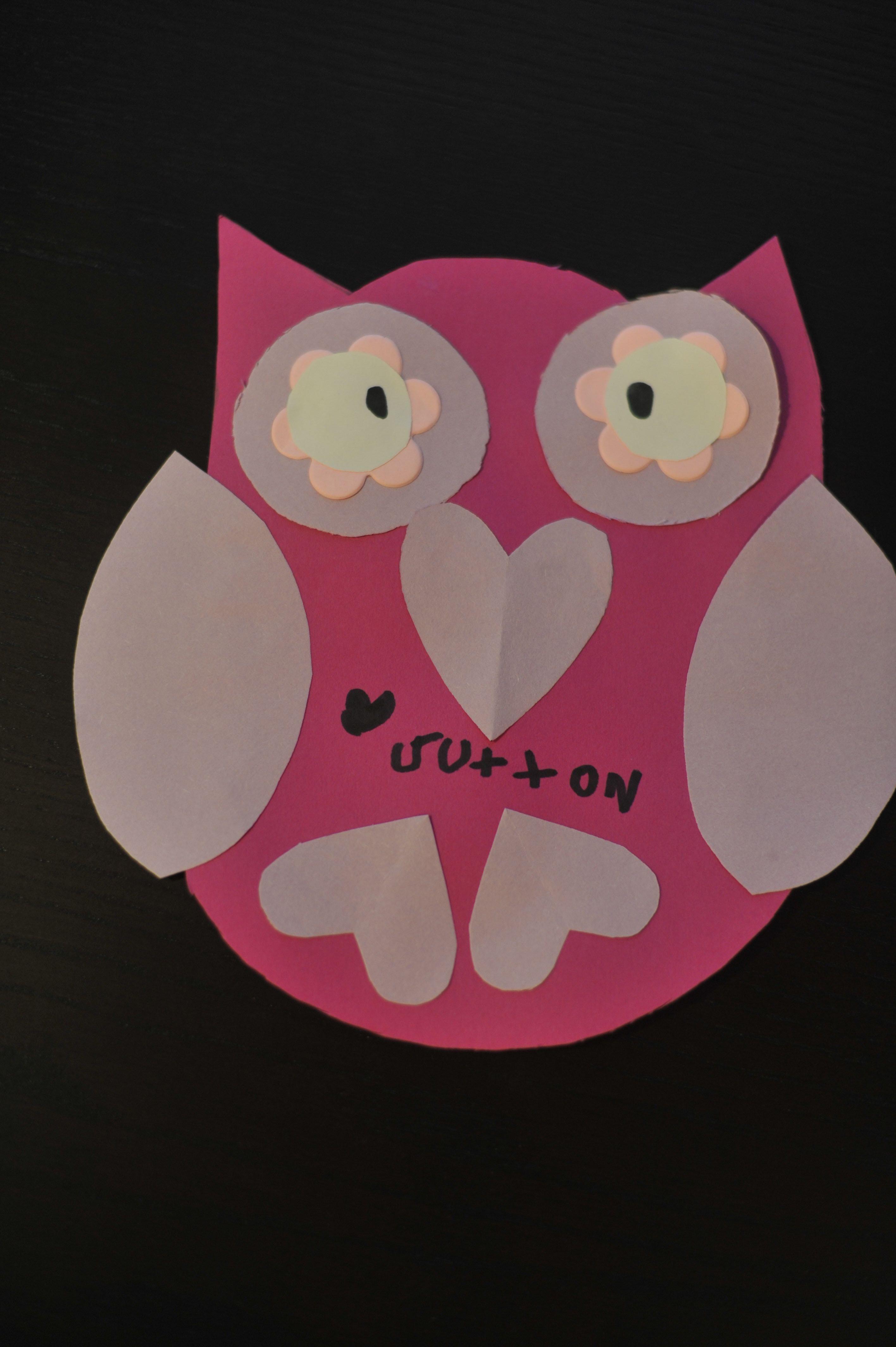 valentine owl craft free preschool crafts - HD2832×4256
