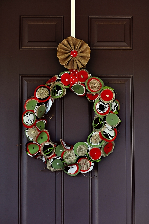 Rounds Wreath | Mommyapolis #christmas #wreath